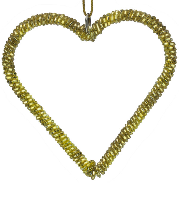 Glass Beaded Hearts