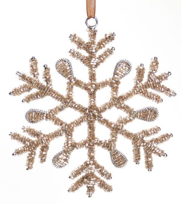 Glass Beaded Snowflakes