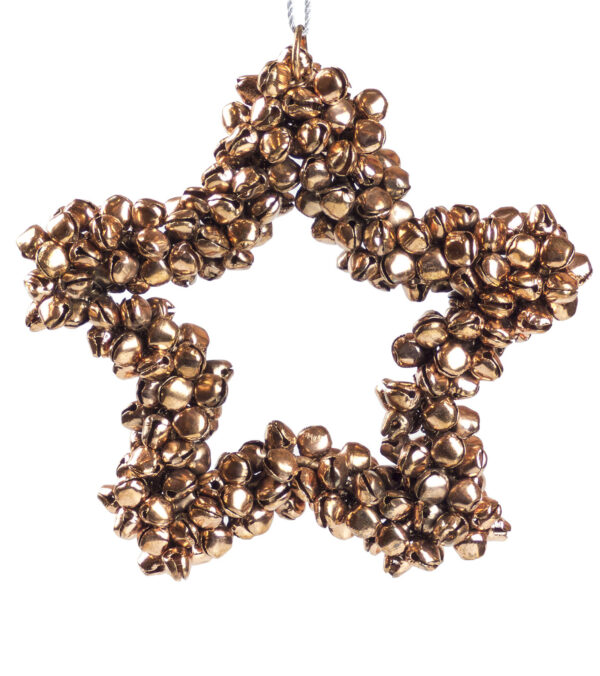 Metal Star Bell Wreath