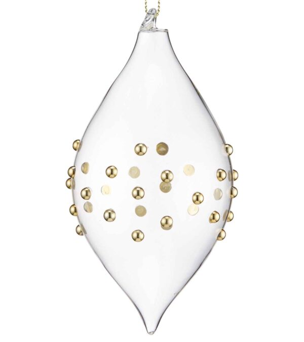 Beaded Glass Drop