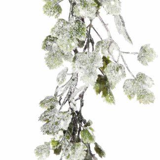 Snowy Grape Leaf Garland - 172cm