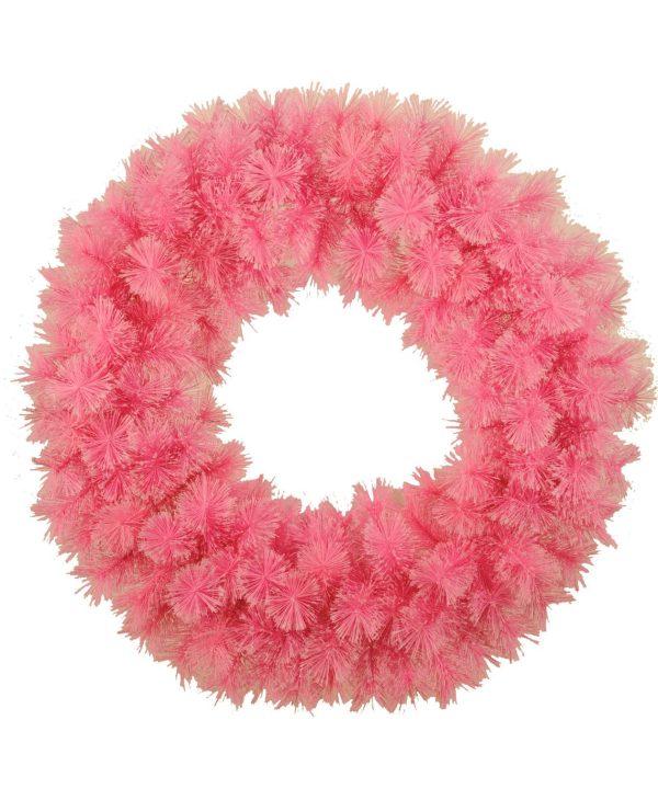 Cashmere Fir Wreath Pink 90 cm - 90cm Diameter - Pink