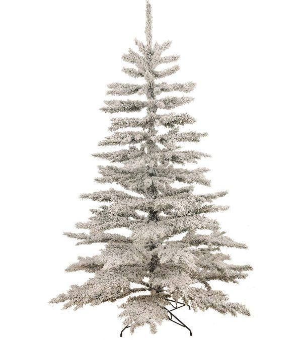 Flocked Norway Spruce Christmas Tree