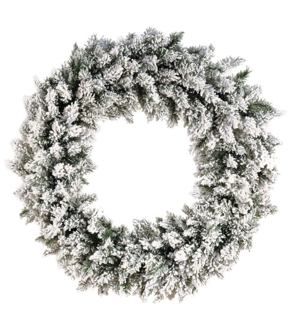 Flocked Norway Spruce Christmas Wreath
