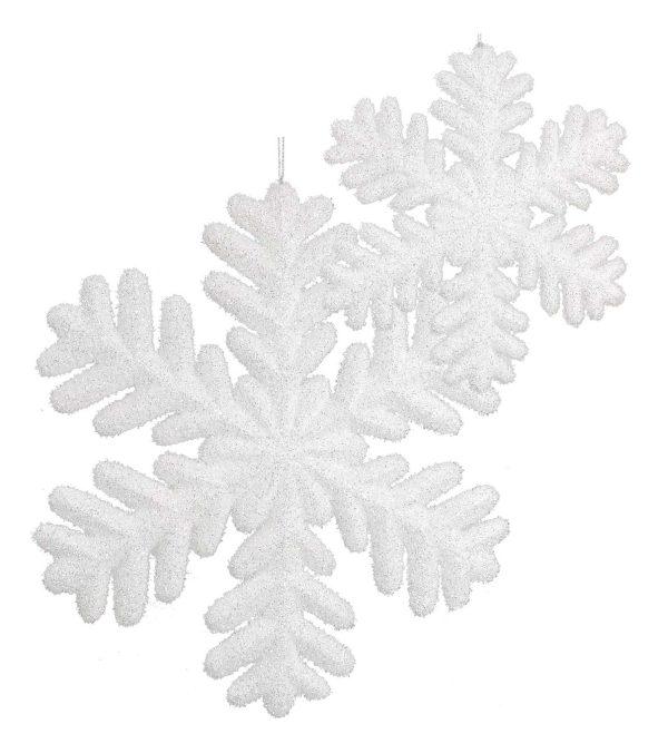 White Glittered Snowflake
