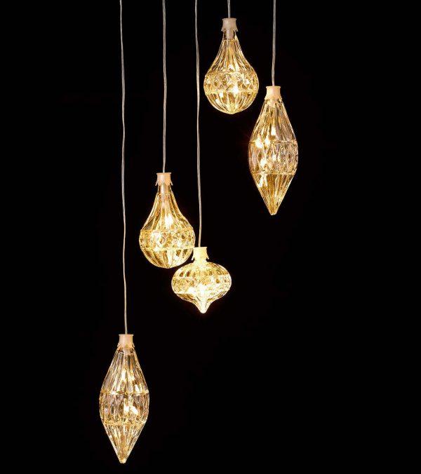 LED Crystal Garland Lights - 80cm Wide x 60cm Long