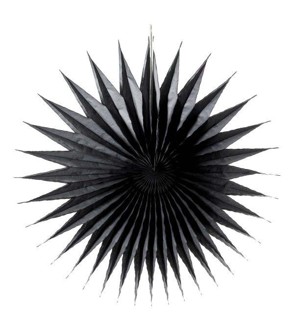 Spikey fan - paper fold out Black