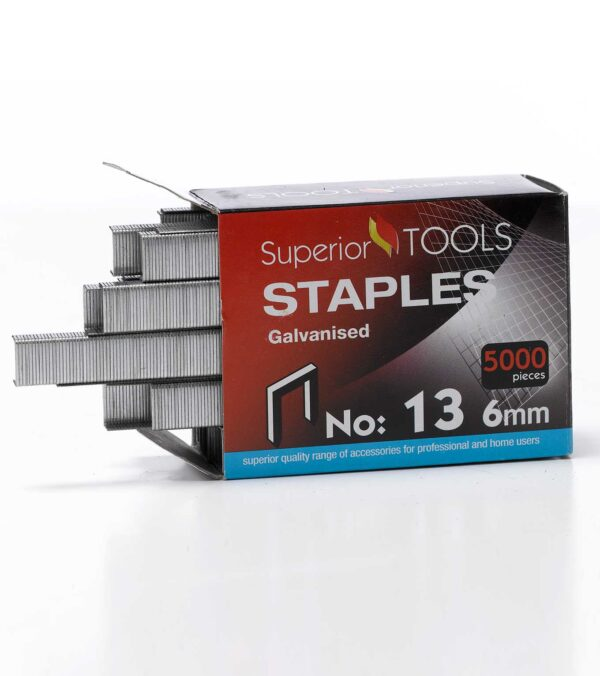 Superior Tools Staples - 6mm - Silver - Pack of 5000