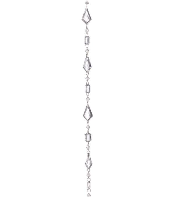 FACETED DIAMOND GARLAND - 180cm long