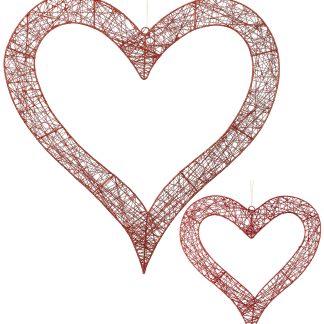 Wire Glittered Heart