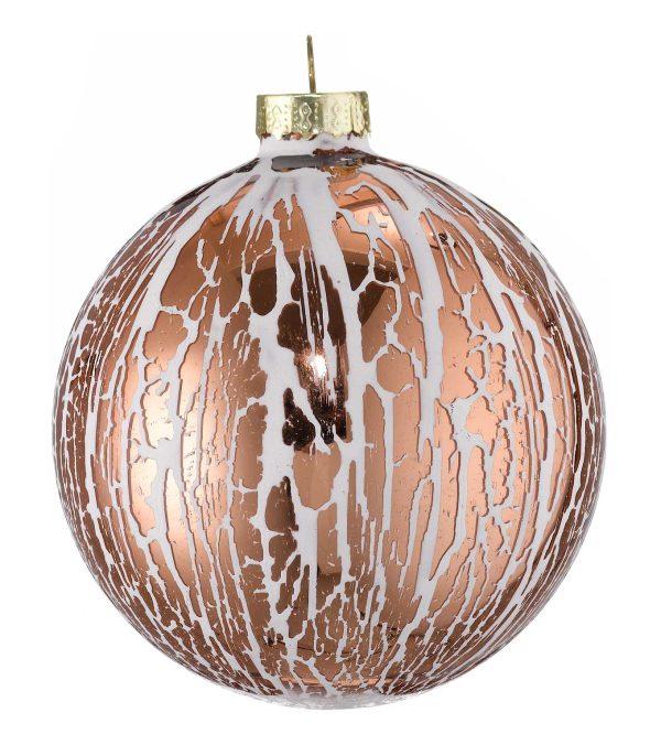 Oil Glaze Copper Glass Bauble