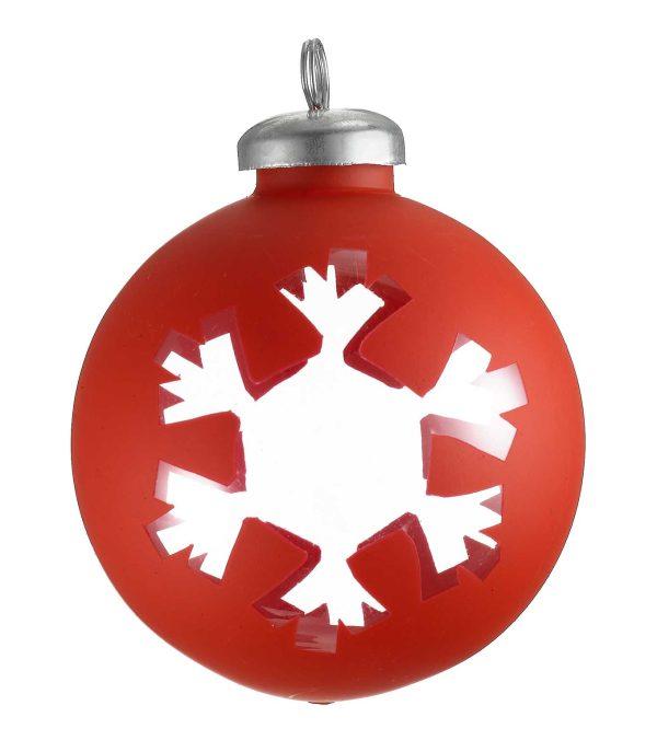 Cut Out Wrap Bauble - Snowflake