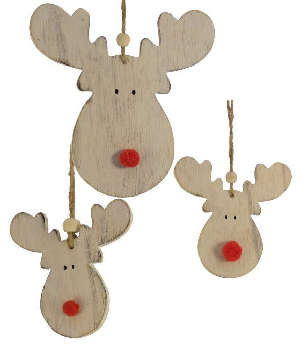 Wooden Moose Head Hangers