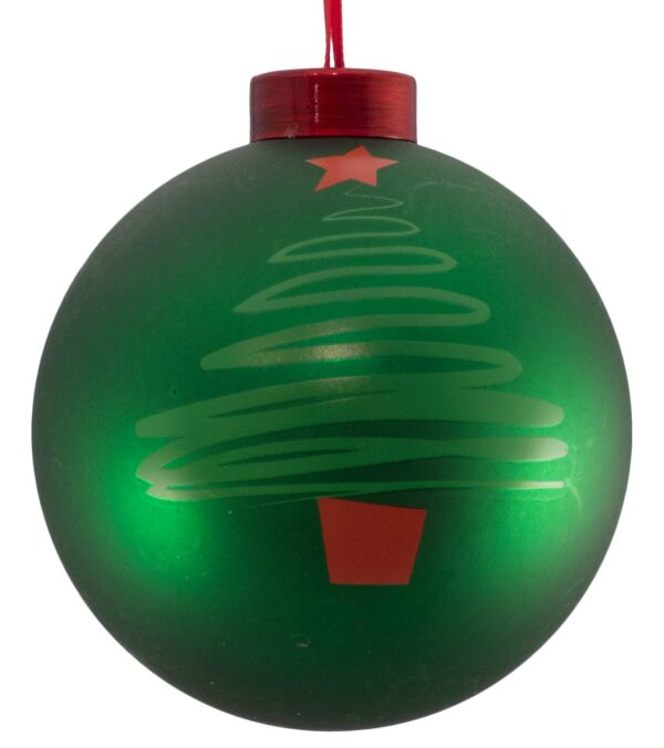 Contemporary Icon Baubles - 80mm - Christmas Tree