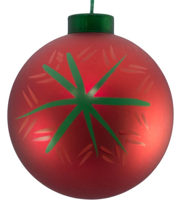 Contemporary Icon Baubles - 80mm - Snowflake