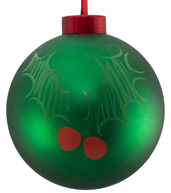 Contemporary Icon Baubles - 80mm - Holly