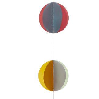 Paper Disc Garland - 190cm long x 8cm wide