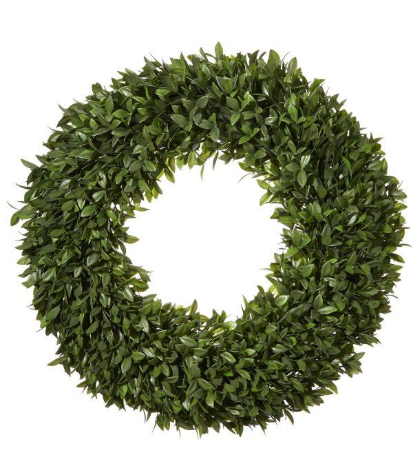 Boxwood Topiary Wreath - 56cm Diameter - Green