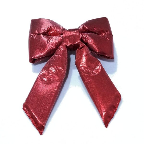 Red Lamé Bows