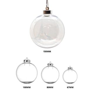 Clear Glass Look Shatterproof Christmas Baubles