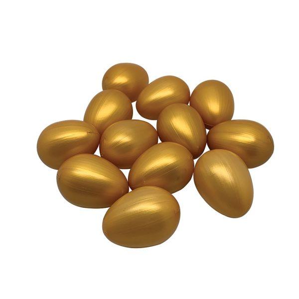 Golden Egg - Plastic - 6.5cm - Pack of 12