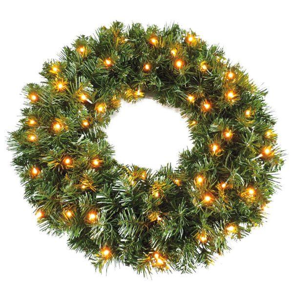 Pre Lit Sable Fir Christmas Wreath