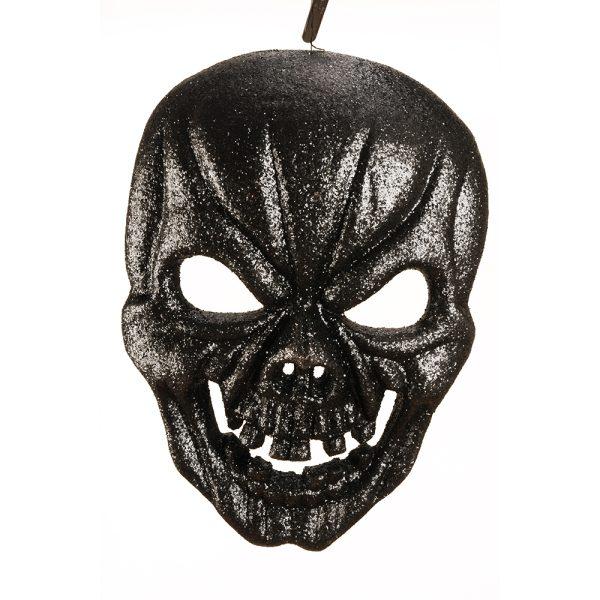 Black glitter skull mask