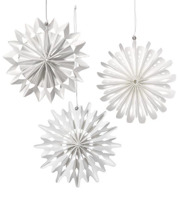 white card snowflakes 10cm
