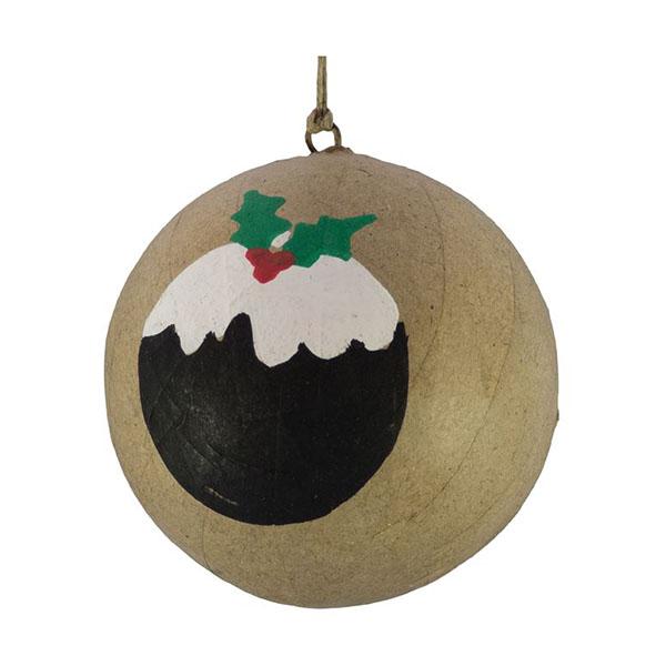 Christmas pudding kraft bauble