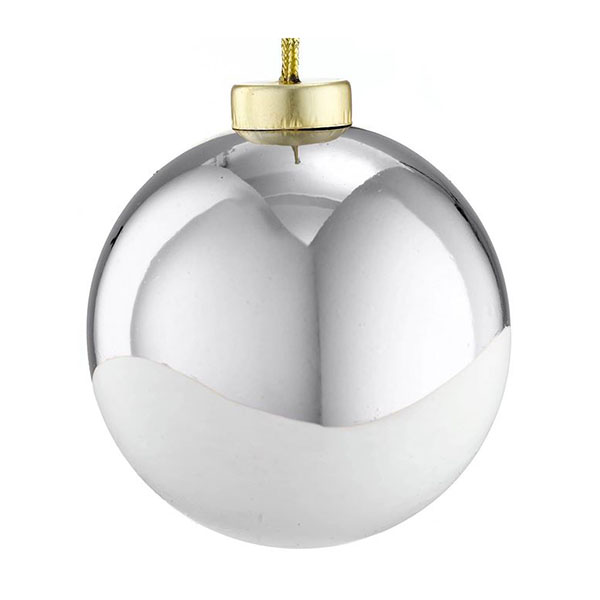 paintworks silver shiny dip bauble