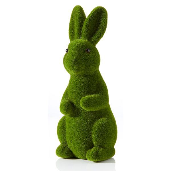 green flocked rabbit