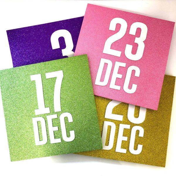 Box Decoration Set Calendar Signs