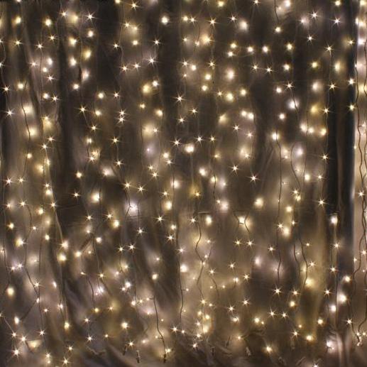 warm white indoor curtain lights