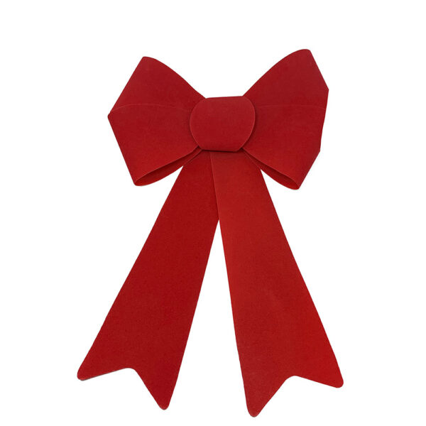 red flocked bow
