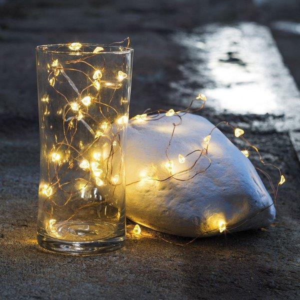 heart fairy lights