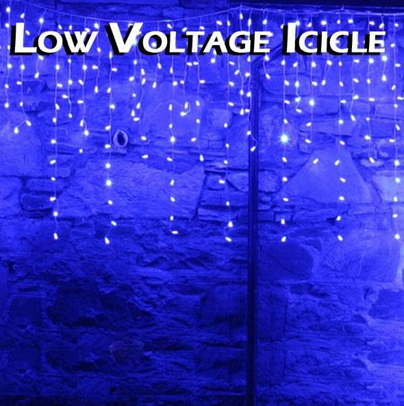 Blue Outdoor Multi Function Icicle Lights
