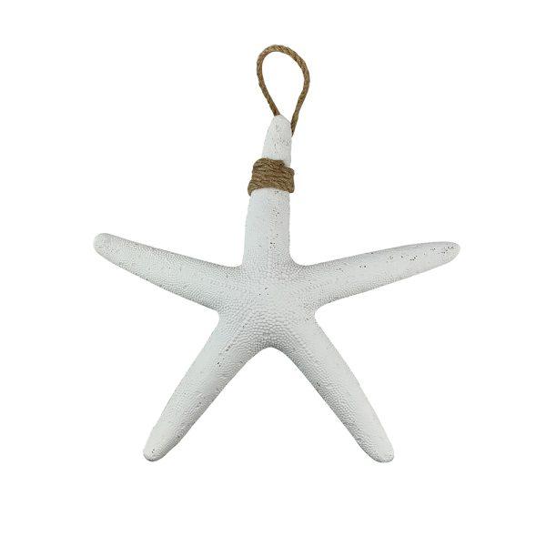 White Resin Starfish
