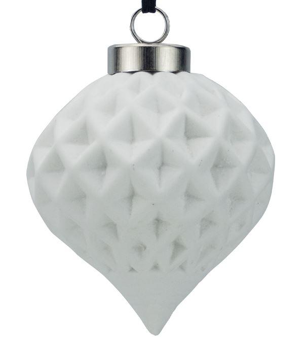 Ceramic Diamond Onion - 67mm - White - Pack of 12