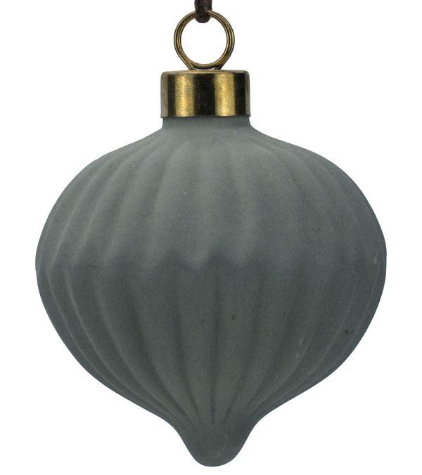 Grey Ceramic Onion - 70mm - Grey - Pack of 12