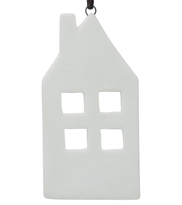 Ceramic House Decoration - 90mm - White - Pack of 12