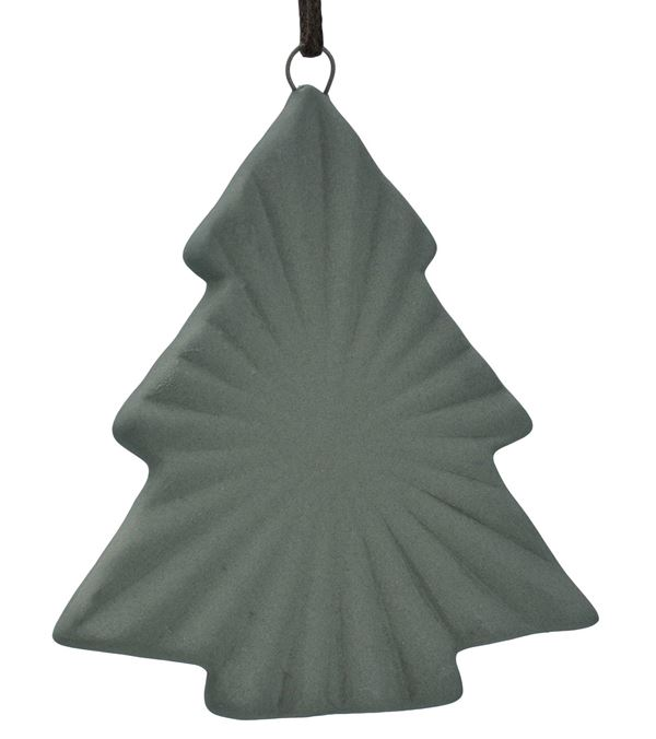 Ceramic Ridged Tree - 88mm - Grey - Pack of 12