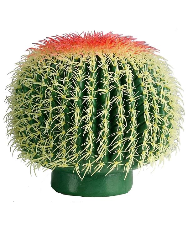 Cactus Barrel Green 32cm X 27cm - 32cm Wide X 27cm Tall - Green - Sold Individually