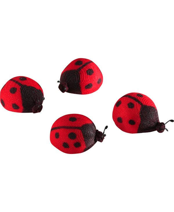 Ladybirds - 4cm Long - Red and Black - Pack of 12