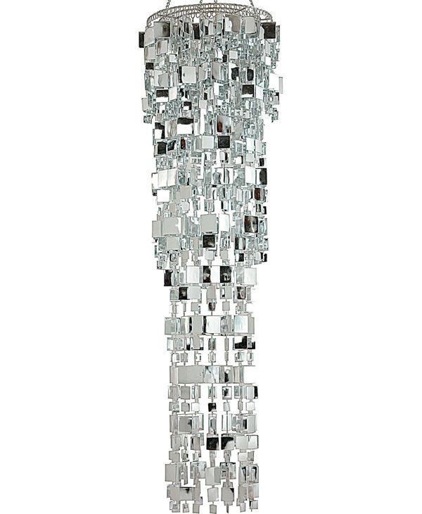 Chandelier Square Silver 150cm X 38cm - 135cm Long X 38cm Wide - Silver