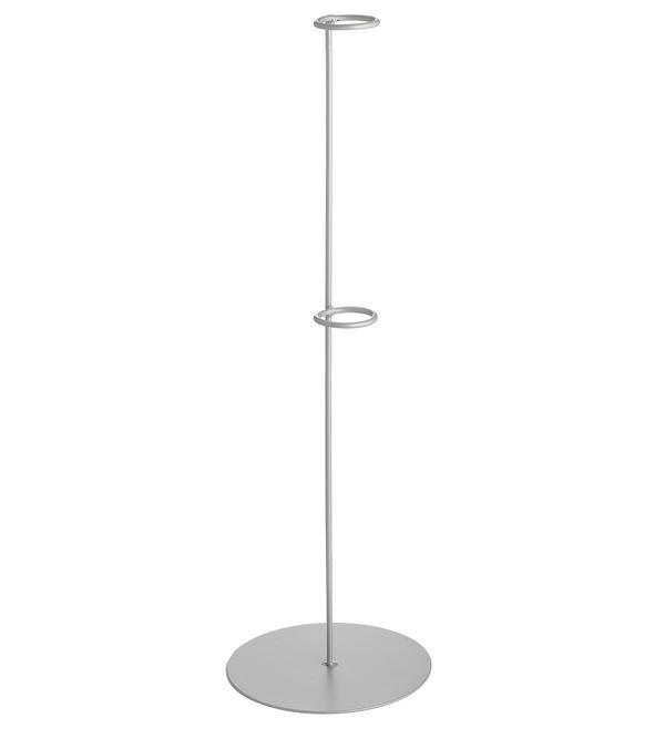 Flower Holder Metal Silver 60cm - 60cm - Silver