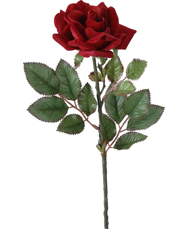 Rose Stem Red 63cm X 9cm - 63cm Tall X 9cm Wide - Red - Pack of 12
