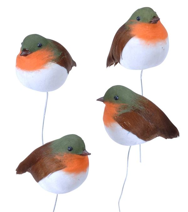 Robins - 5cm X 7cm - Red - Pack of 12