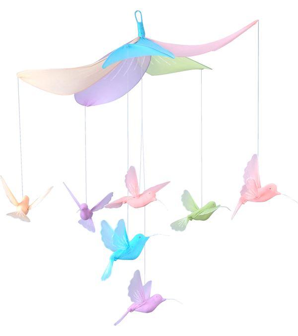 Hummingbird Mobile - 50cm Wide X 55cm Long - Multicolour