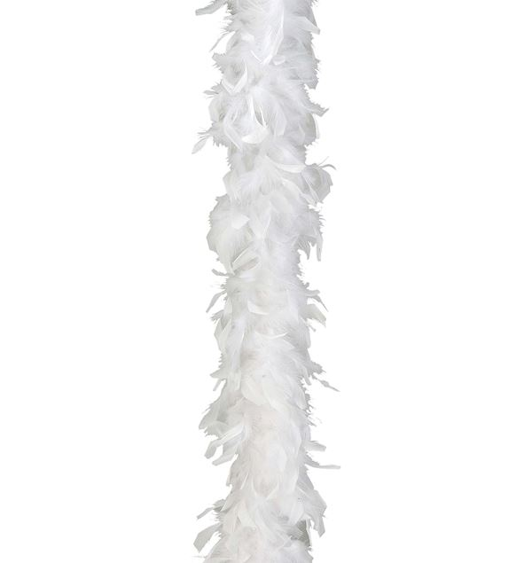 Feather Boa - White - 1.8m Long X 15cm Wide - White - Pack of 2