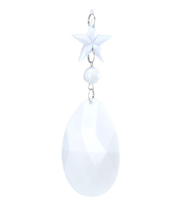 Jewel drop - star bead almond 12 x 5cm